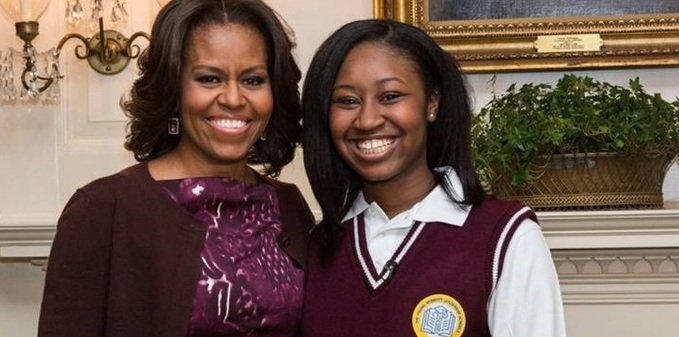 TYWLS student interviews First Lady Michelle Obama!   SL Network