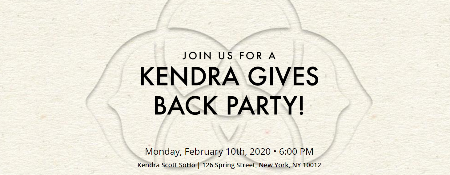 Kendra Scott Gives Back Party on February 10th